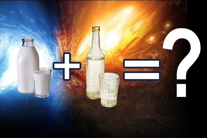 Можно ли пить водку с молоком? Лечение молоком и водкой.