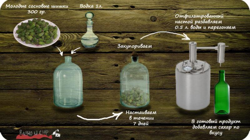 Сосновая водка на шишках: полезные свойства, приготовление, состав, рецепт