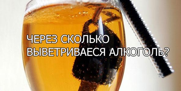 За сколько выветривается пиво?