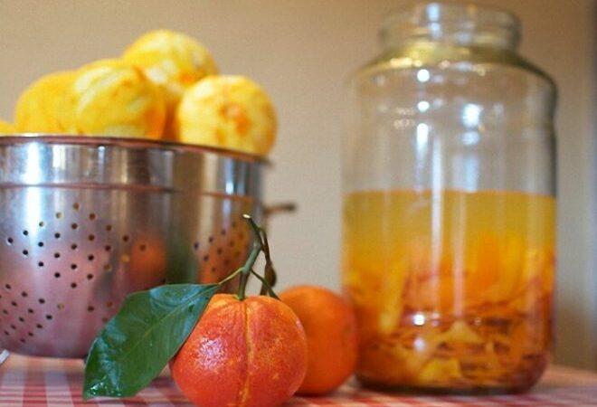 Настойка на мандариновых корках с корицей