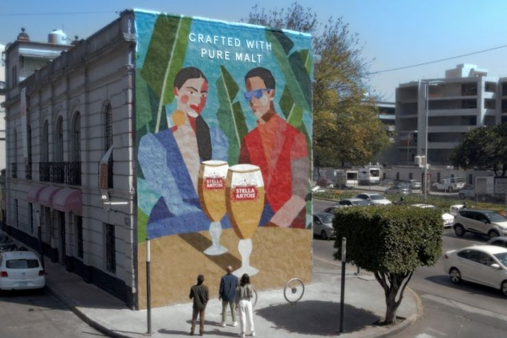 В Мексике создали рекламный мурал из солода